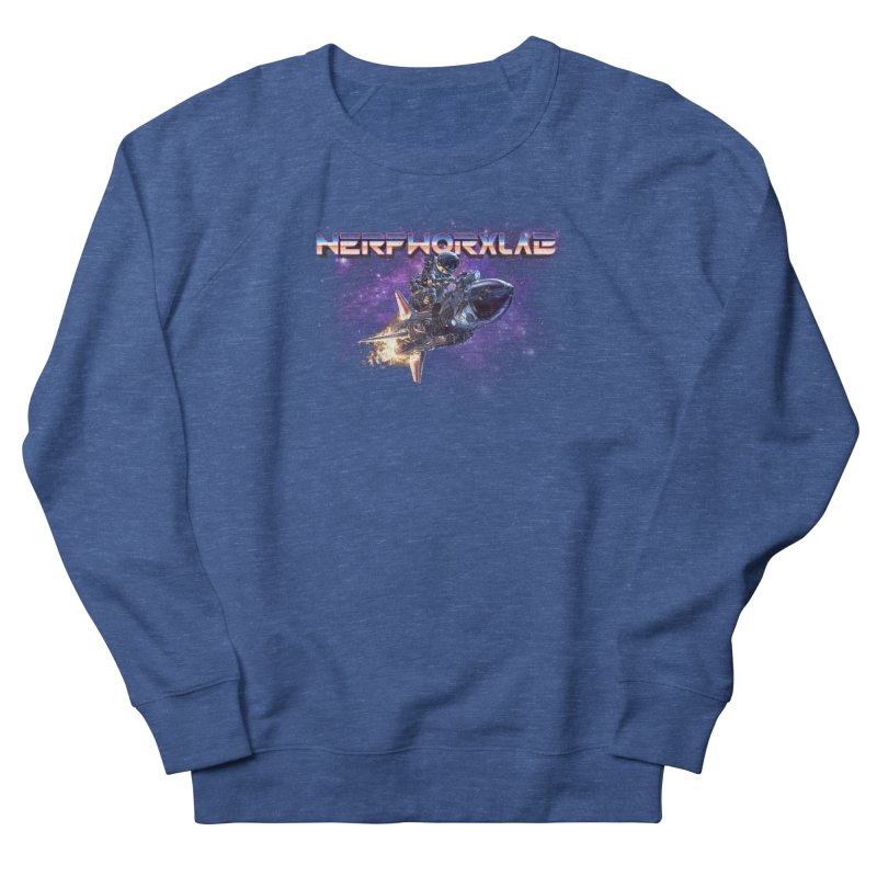 NERFWORX Retro Men's French Terry Sweatshirt by SolosHold's Artist Shop