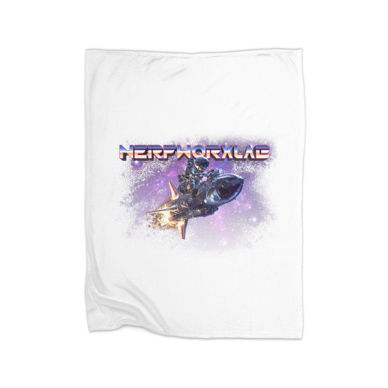 NERFWORX Retro Home Fleece Blanket Blanket by SolosHold's Artist Shop