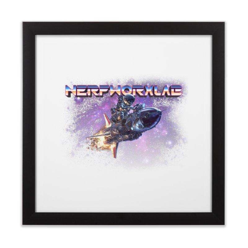 NERFWORX Retro Home Framed Fine Art Print by SolosHold's Artist Shop