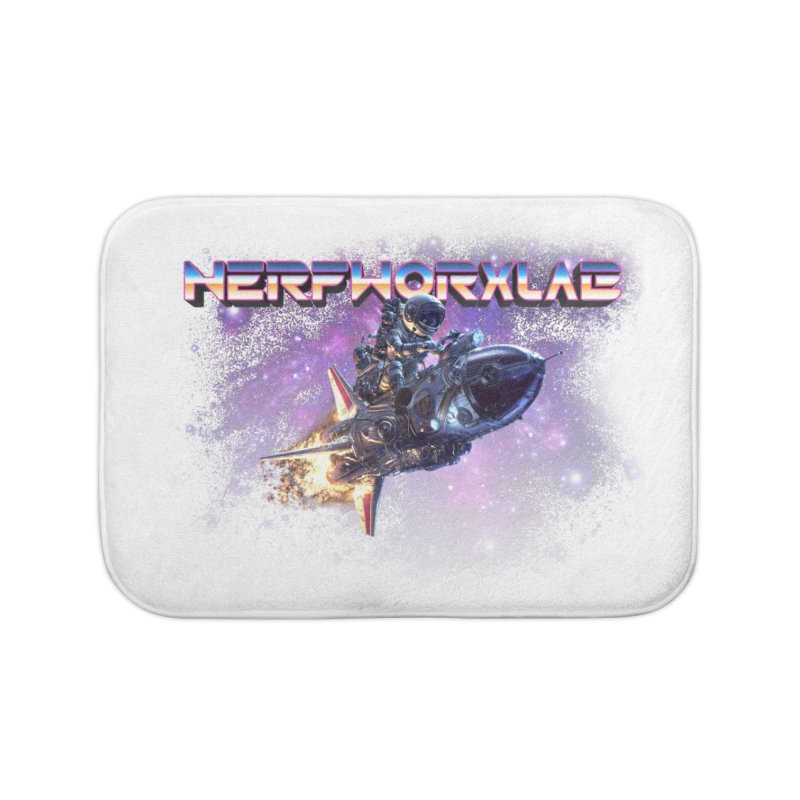 NERFWORX Retro Home Bath Mat by SolosHold's Artist Shop