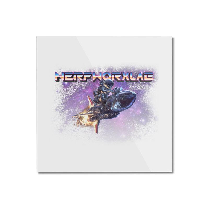 NERFWORX Retro Home Mounted Acrylic Print by SolosHold's Artist Shop