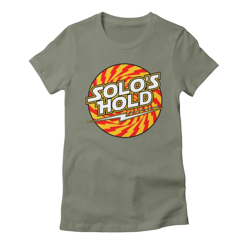 Rock N' Roll Women's Fitted T-Shirt by SolosHold's Artist Shop