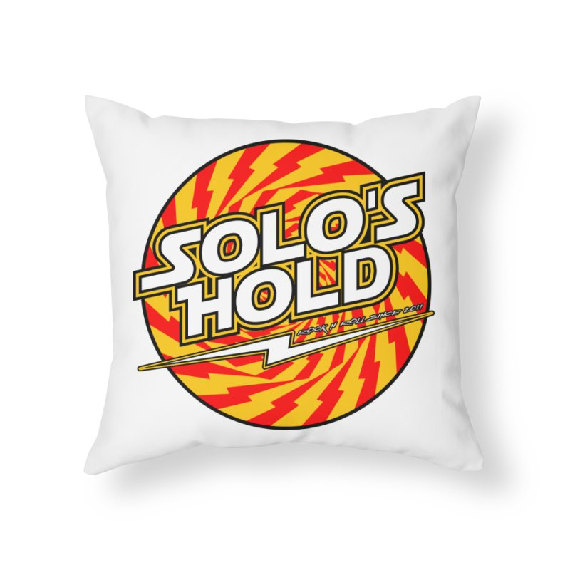Rock N' Roll Home Throw Pillow by SolosHold's Artist Shop