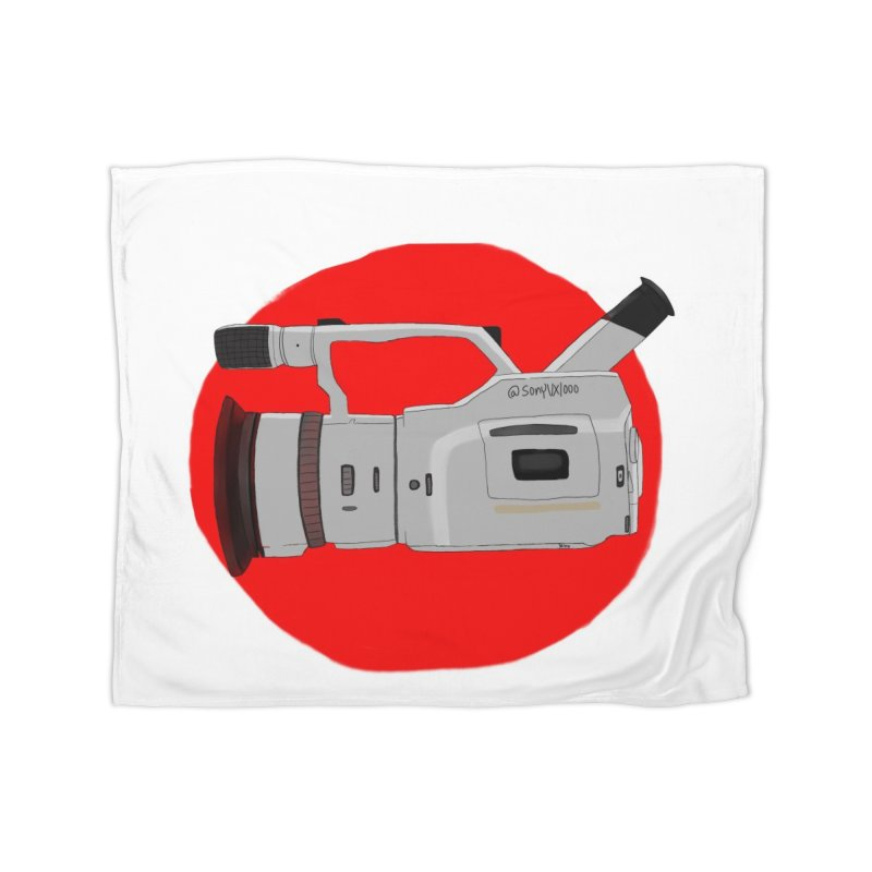 Japanese Flag Hand Drawn  vx1000 Home Blanket by Sonyvx1000's Artist Shop