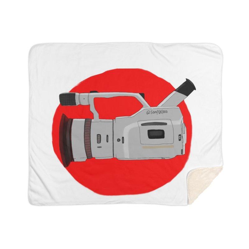 Japanese Flag Hand Drawn  vx1000 Home Sherpa Blanket Blanket by Sonyvx1000's Artist Shop