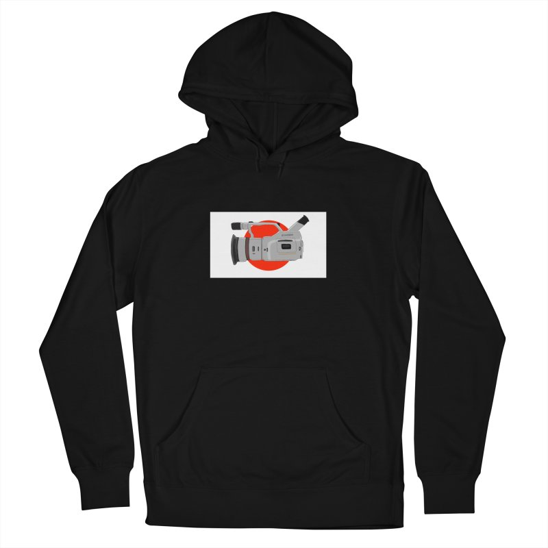 Japanese Flag Hand Drawn  vx1000 in Men's French Terry Pullover Hoody Black by Sonyvx1000's Artist Shop