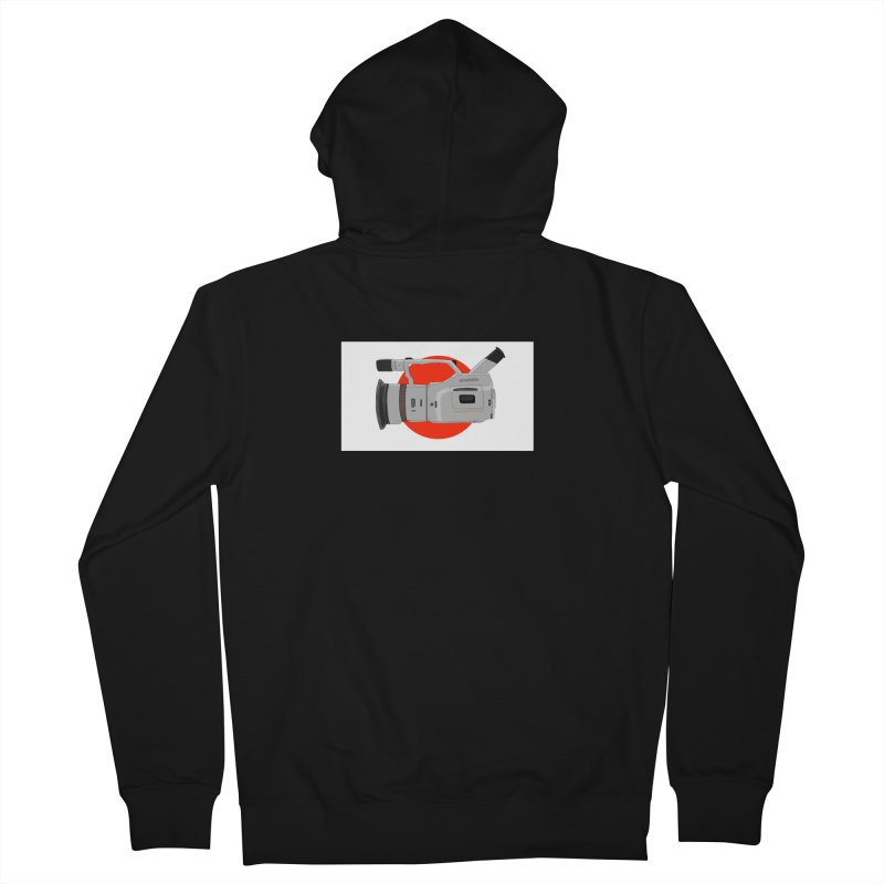 Japanese Flag Hand Drawn  vx1000 in Men's French Terry Zip-Up Hoody Black by Sonyvx1000's Artist Shop
