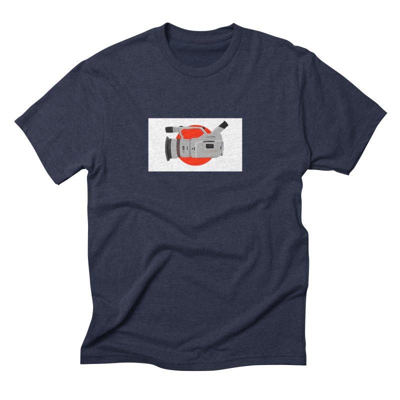 Japanese Flag Hand Drawn  vx1000 Men's Triblend T-Shirt by Sonyvx1000's Artist Shop