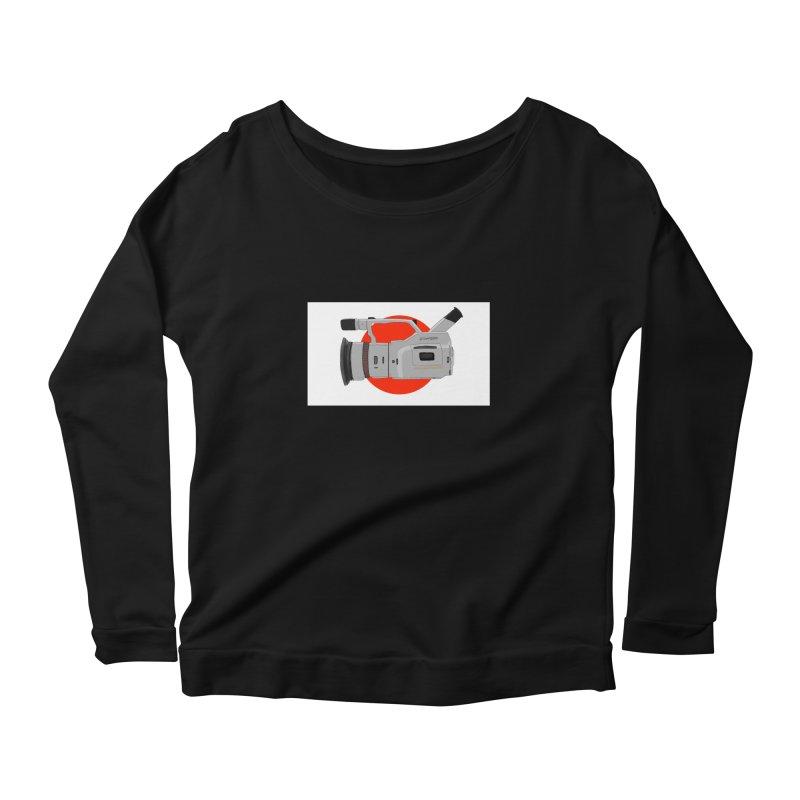 Japanese Flag Hand Drawn  vx1000 Women's Scoop Neck Longsleeve T-Shirt by Sonyvx1000's Artist Shop