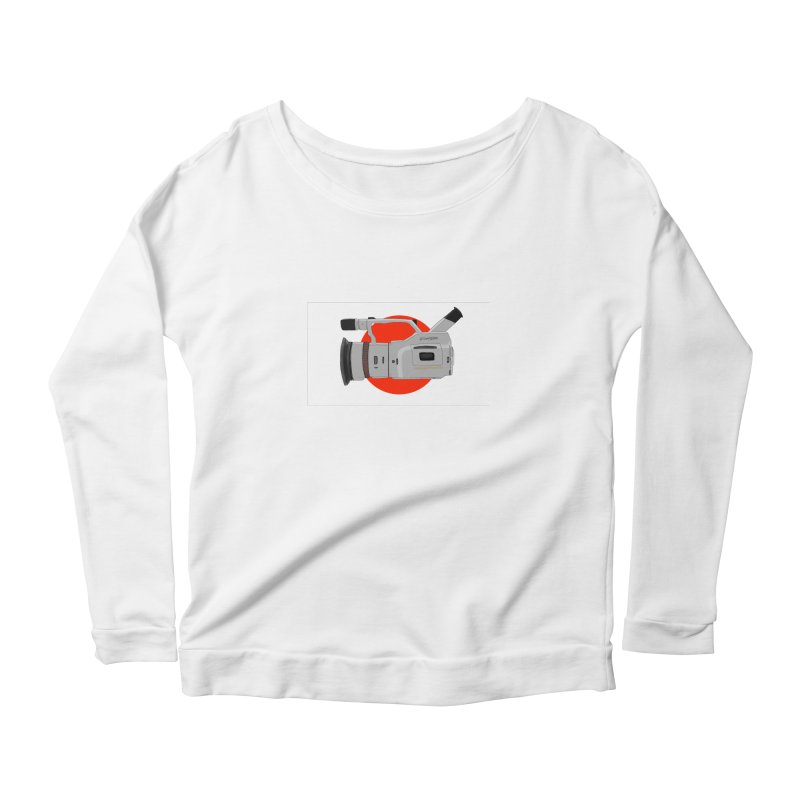 Japanese Flag Hand Drawn  vx1000 Women's Scoop Neck Longsleeve T-Shirt by Sonyvx1000's Artist Shop