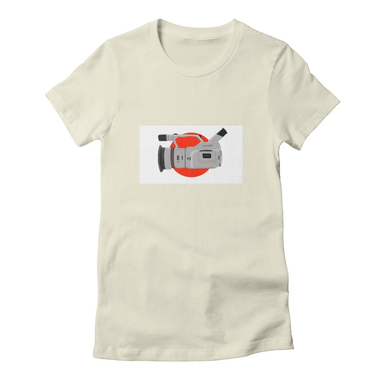 Japanese Flag Hand Drawn  vx1000 Women's Fitted T-Shirt by Sonyvx1000's Artist Shop