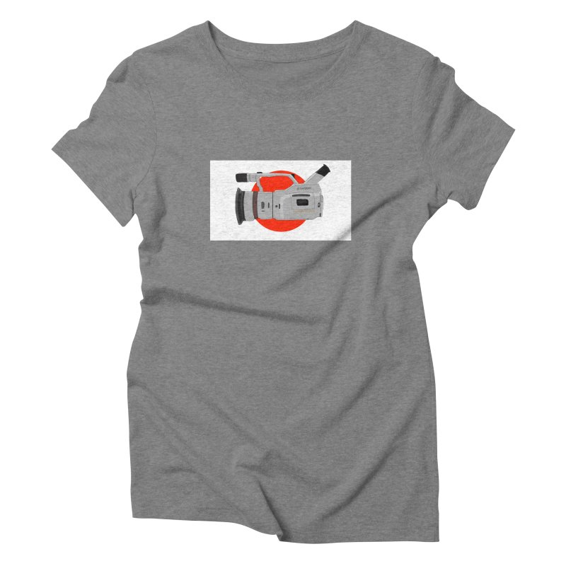 Japanese Flag Hand Drawn  vx1000 Women's Triblend T-Shirt by Sonyvx1000's Artist Shop