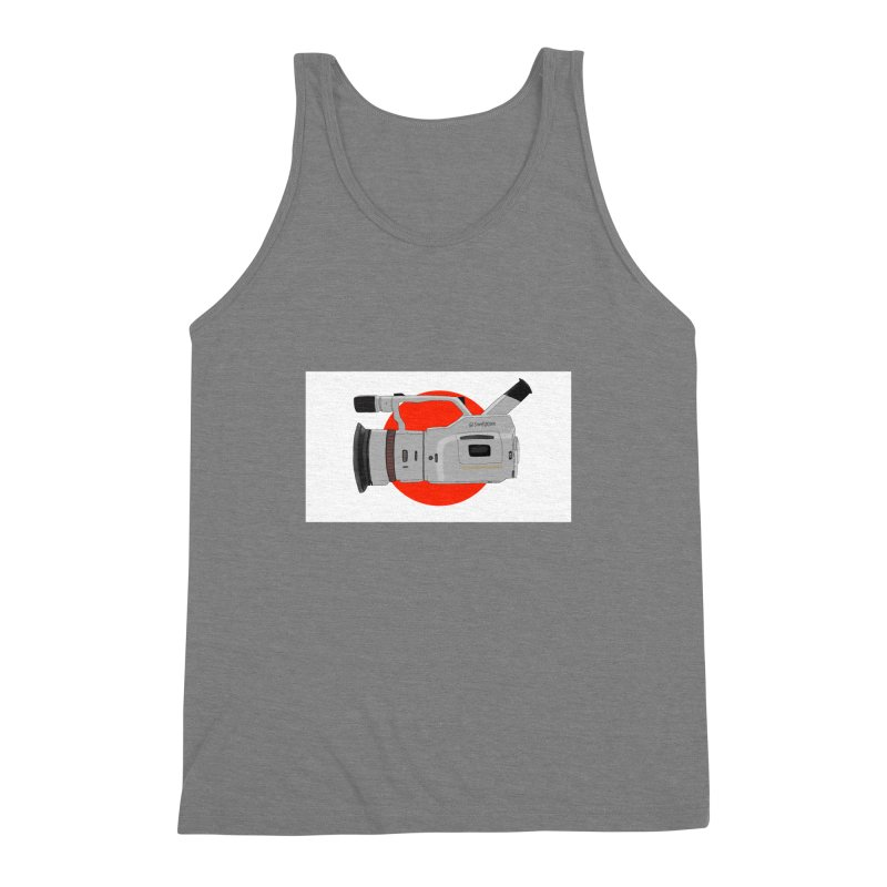 Japanese Flag Hand Drawn  vx1000 Men's Triblend Tank by Sonyvx1000's Artist Shop