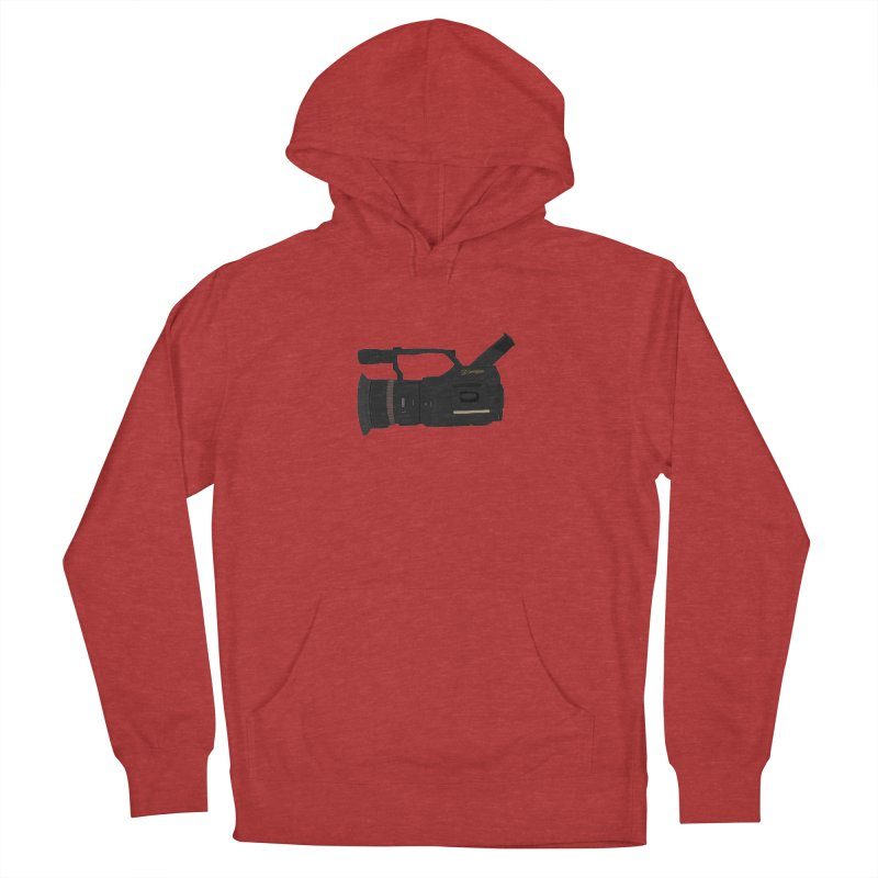 Kuro (Black) vx1000 in Men's Pullover Hoody Heather Red by Sonyvx1000's Artist Shop