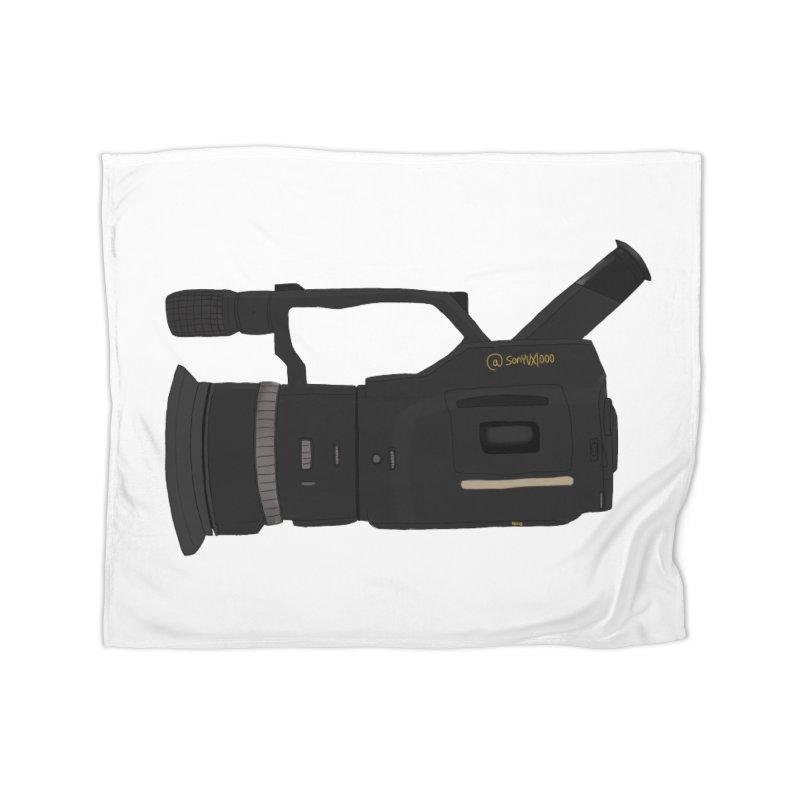 Kuro (Black) vx1000 Home Fleece Blanket Blanket by Sonyvx1000's Artist Shop
