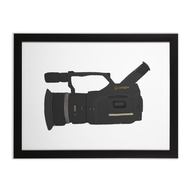 Kuro (Black) vx1000 Home Framed Fine Art Print by Sonyvx1000's Artist Shop