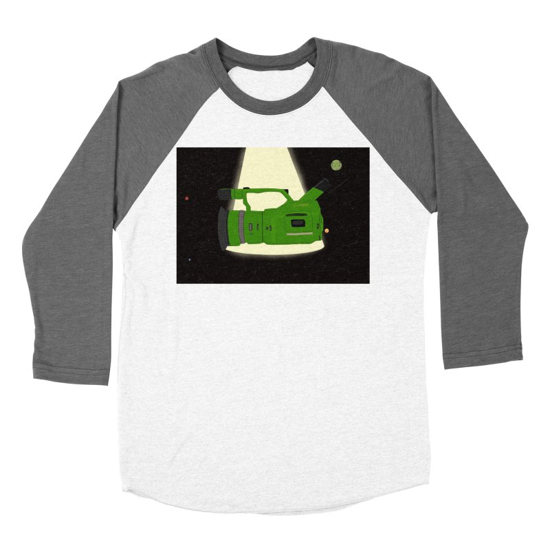 Outerspace vx1000 in Men's Baseball Triblend T-Shirt Tri-Grey Sleeves by Sonyvx1000's Artist Shop