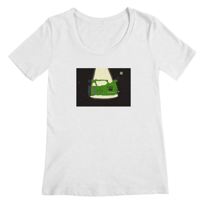 Outerspace vx1000 Women's Scoopneck by Sonyvx1000's Artist Shop