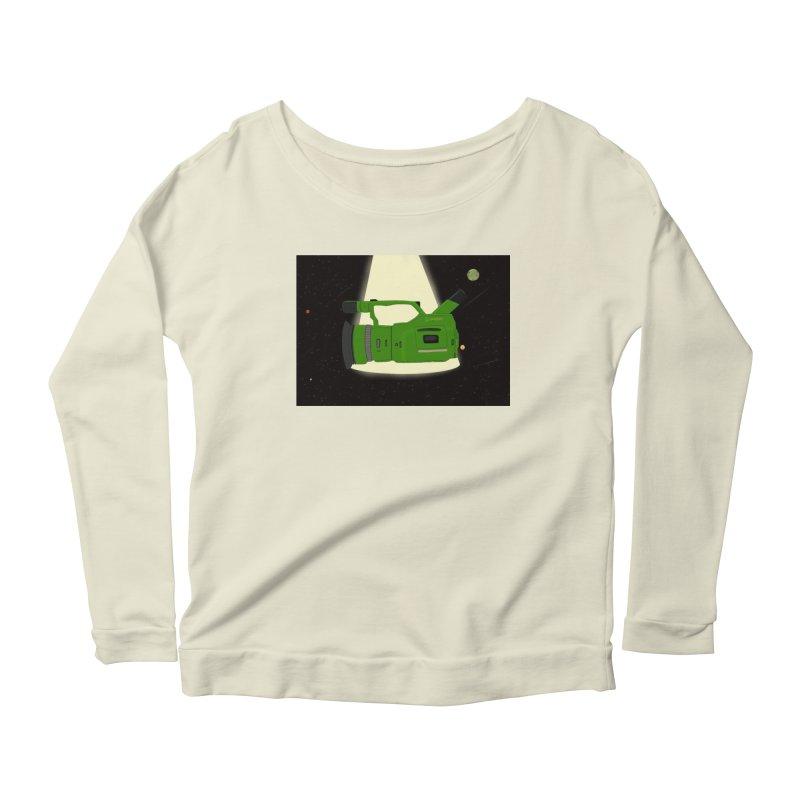 Outerspace vx1000 Women's Scoop Neck Longsleeve T-Shirt by Sonyvx1000's Artist Shop