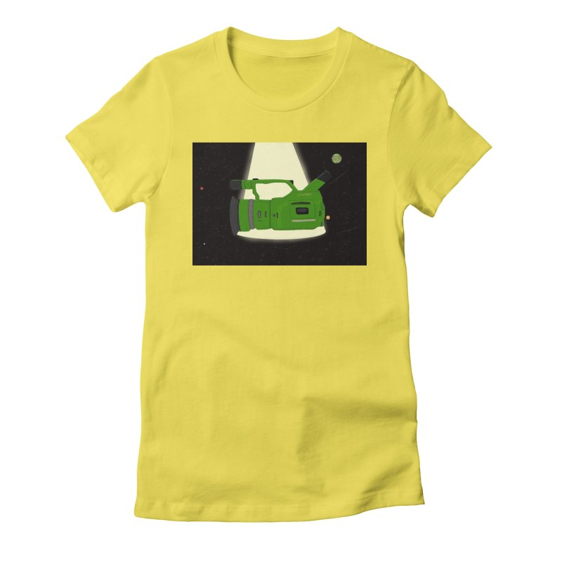 Outerspace vx1000 Women's Fitted T-Shirt by Sonyvx1000's Artist Shop