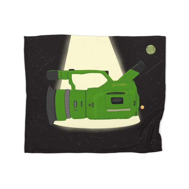 Outerspace vx1000 Home Fleece Blanket Blanket by Sonyvx1000's Artist Shop