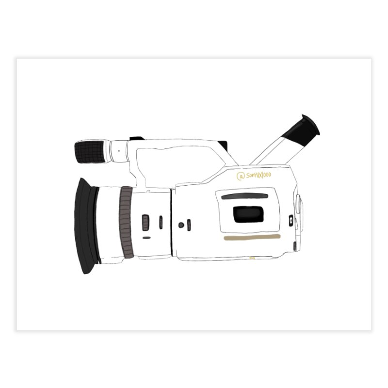 Shiro (White) vx1000 Home Fine Art Print by Sonyvx1000's Artist Shop