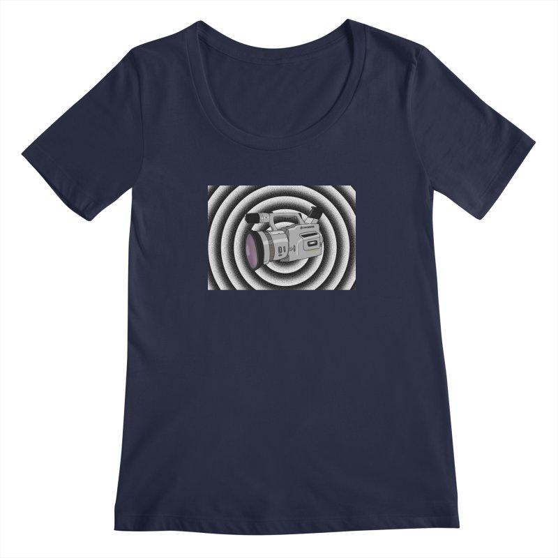 Spiral Out VX Women's Scoopneck by Sonyvx1000's Artist Shop