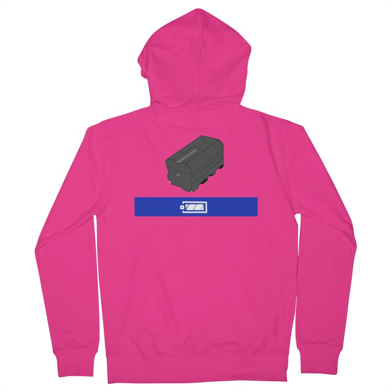 Fully Charged Men's Zip-Up Hoody by Sonyvx1000's Artist Shop