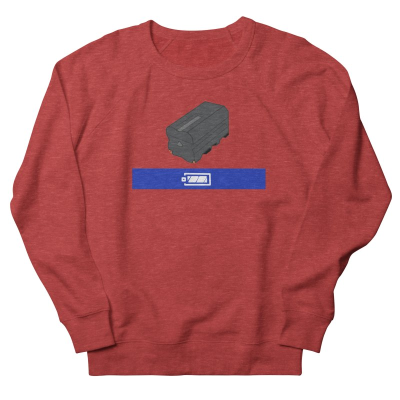 Fully Charged Women's French Terry Sweatshirt by Sonyvx1000's Artist Shop