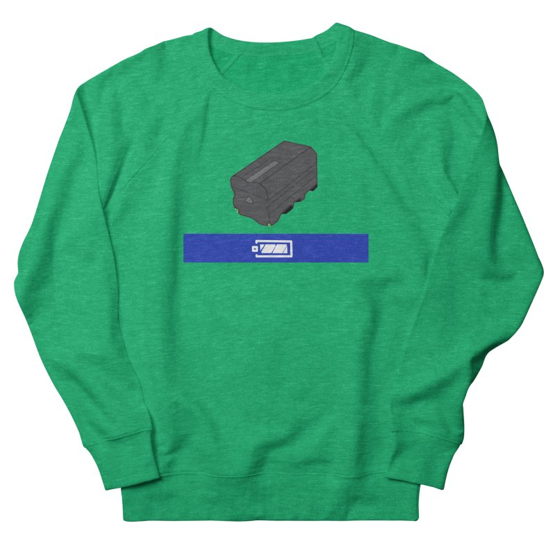 Fully Charged Men's French Terry Sweatshirt by Sonyvx1000's Artist Shop