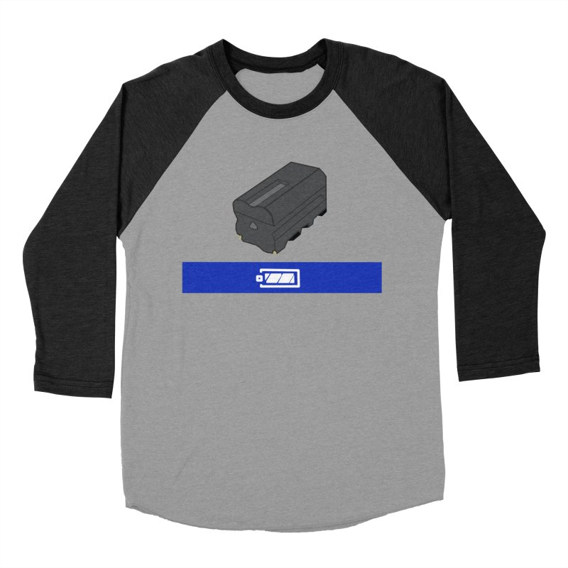 Fully Charged Men's Baseball Triblend T-Shirt by Sonyvx1000's Artist Shop