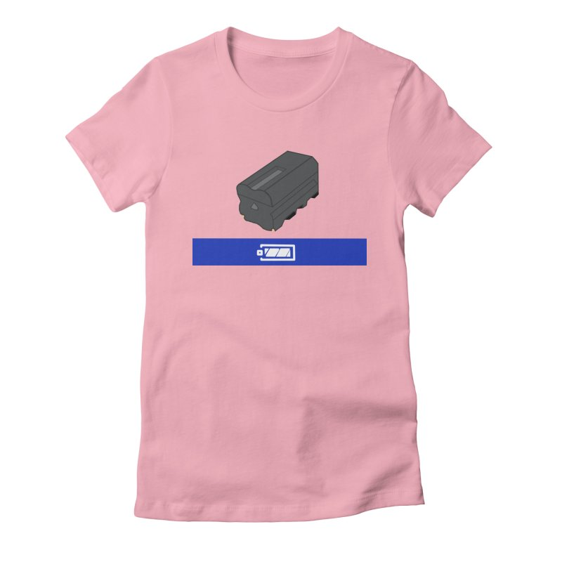 Fully Charged Women's Fitted T-Shirt by Sonyvx1000's Artist Shop