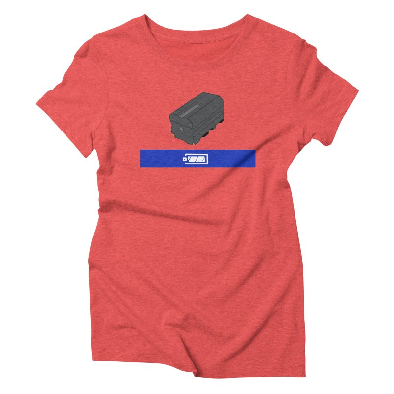 Fully Charged Women's Triblend T-Shirt by Sonyvx1000's Artist Shop