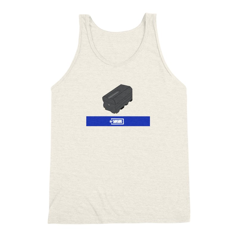 Fully Charged Men's Triblend Tank by Sonyvx1000's Artist Shop