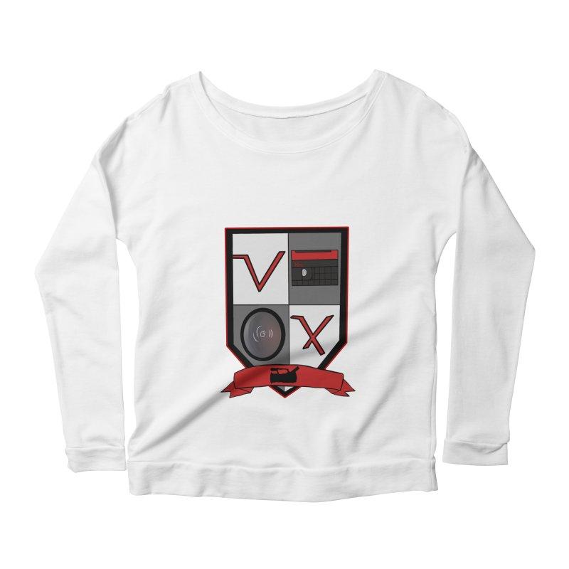 VX Coat of Arms Women's Longsleeve Scoopneck  by Sonyvx1000's Artist Shop