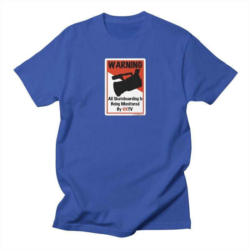 VXTV in Men's Regular T-Shirt Royal Blue by Sonyvx1000's Artist Shop