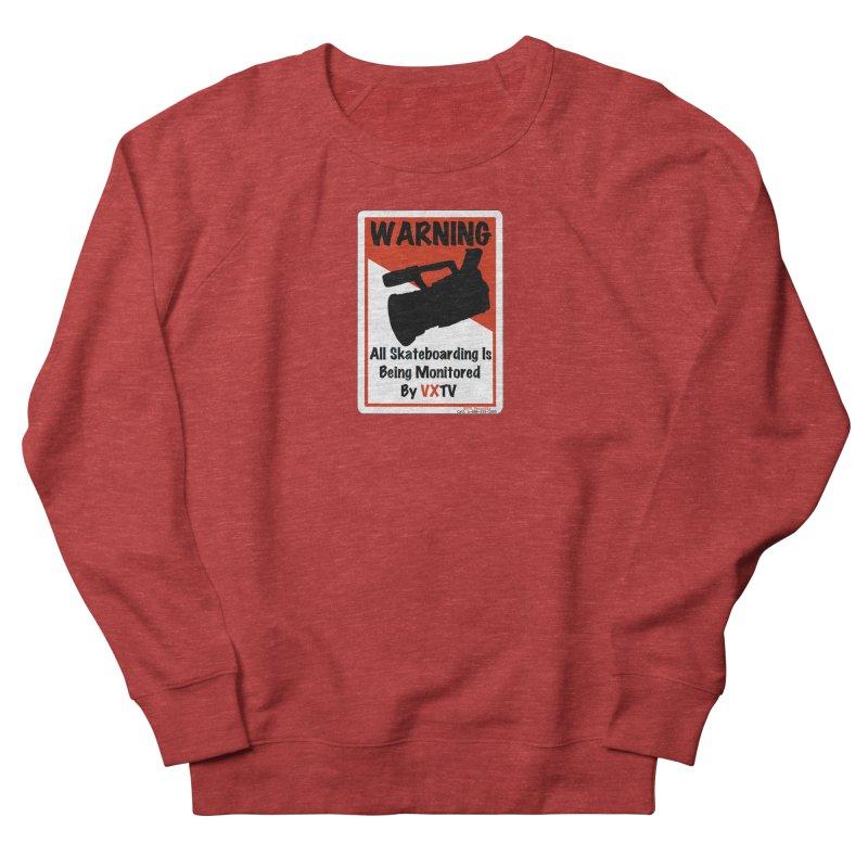 VXTV in Men's French Terry Sweatshirt Heather Red by Sonyvx1000's Artist Shop