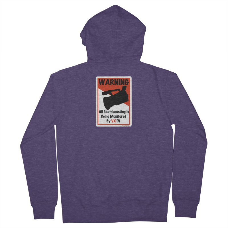 VXTV Men's French Terry Zip-Up Hoody by Sonyvx1000's Artist Shop