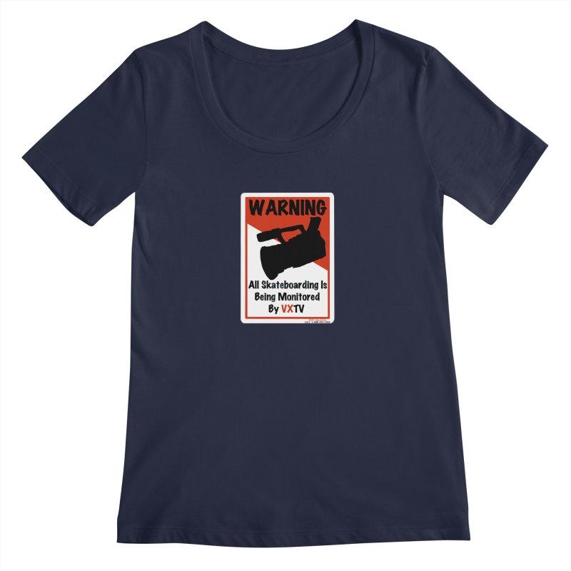 VXTV Women's Scoop Neck by Sonyvx1000's Artist Shop