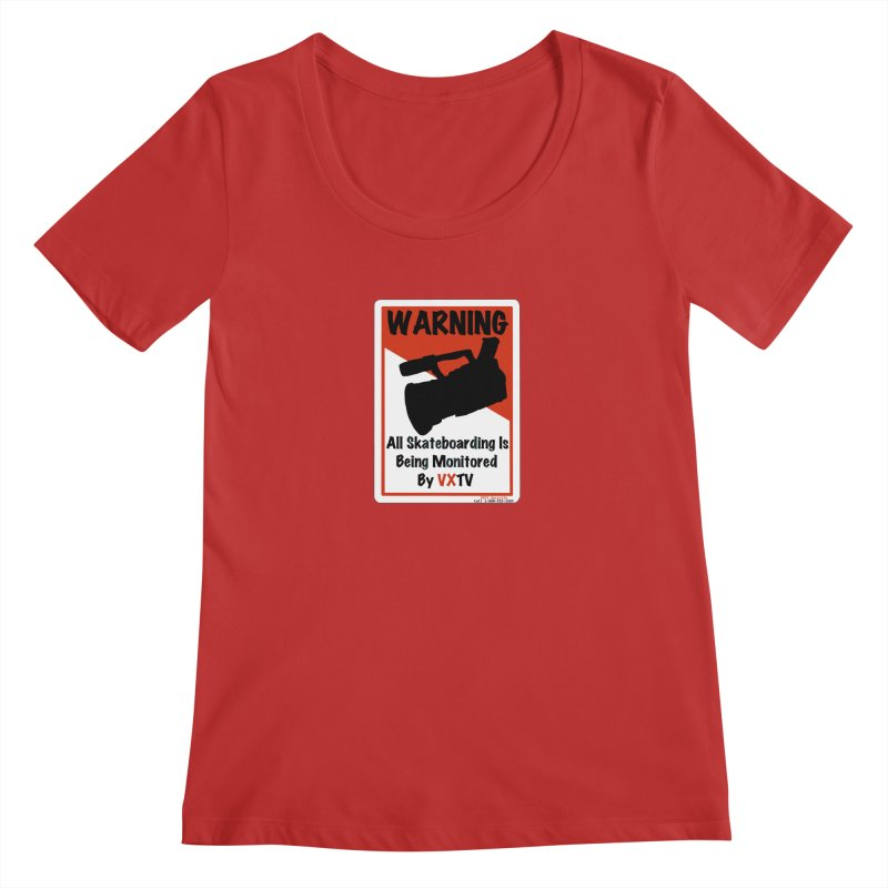 VXTV Women's Regular Scoop Neck by Sonyvx1000's Artist Shop