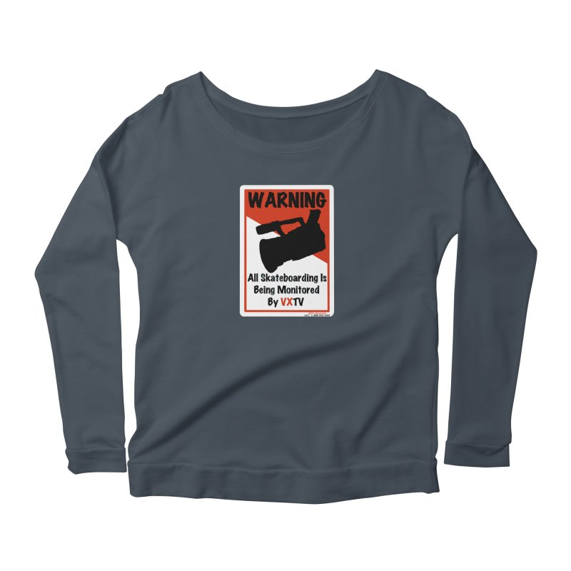 VXTV Women's Scoop Neck Longsleeve T-Shirt by Sonyvx1000's Artist Shop