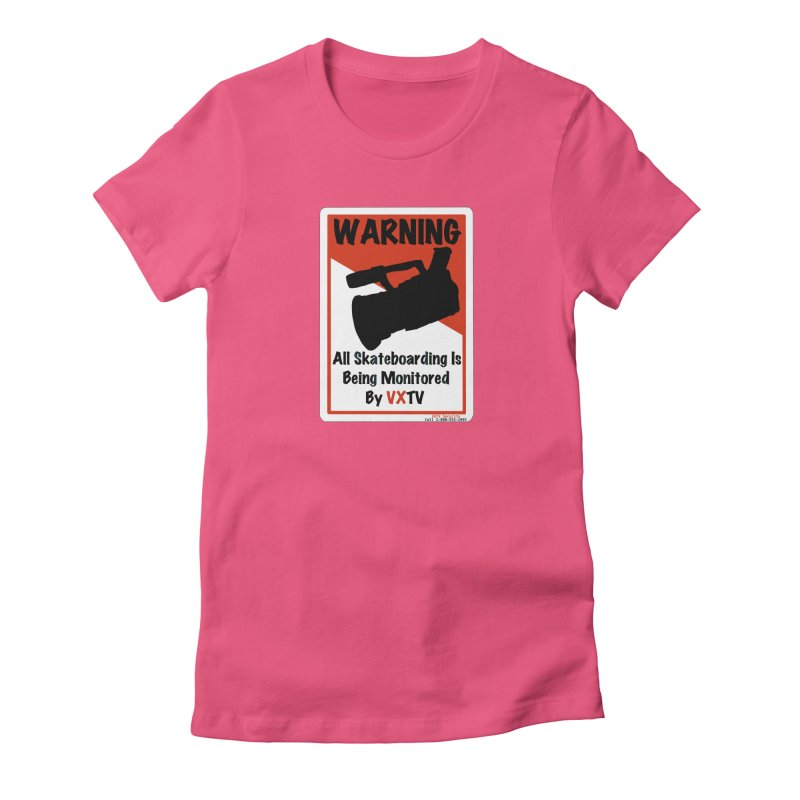 VXTV Women's Fitted T-Shirt by Sonyvx1000's Artist Shop