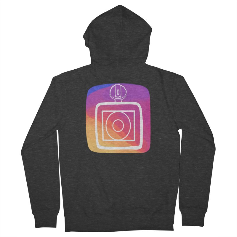 VXstagram Women's French Terry Zip-Up Hoody by Sonyvx1000's Artist Shop