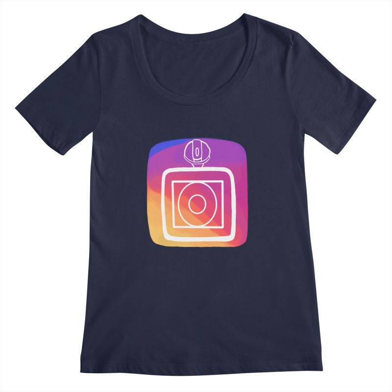 VXstagram Women's Scoopneck by Sonyvx1000's Artist Shop