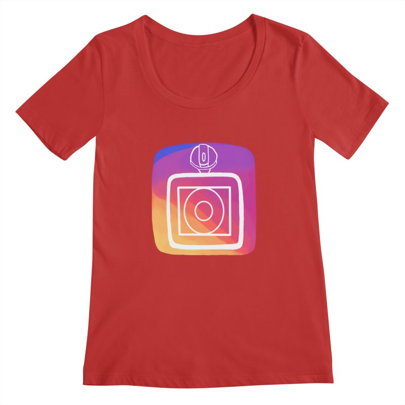 VXstagram Women's Regular Scoop Neck by Sonyvx1000's Artist Shop