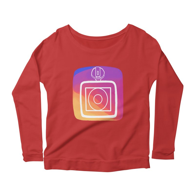 VXstagram Women's Longsleeve Scoopneck  by Sonyvx1000's Artist Shop