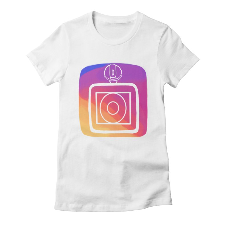VXstagram Women's Fitted T-Shirt by Sonyvx1000's Artist Shop