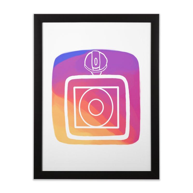 VXstagram Home Framed Fine Art Print by Sonyvx1000's Artist Shop
