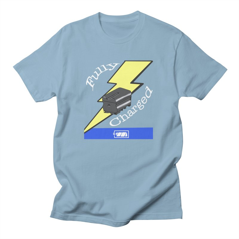 Fully Charged Men's T-shirt by Sonyvx1000's Artist Shop