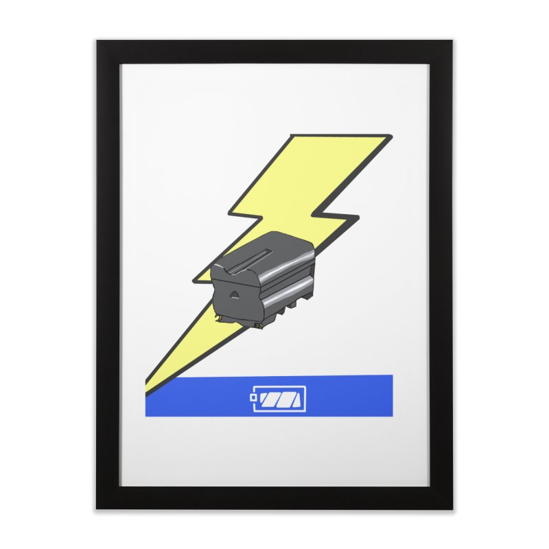 Fully Charged Home Framed Fine Art Print by Sonyvx1000's Artist Shop